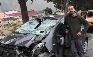 L'alberto caduto sulla carreggiata - Foto Repubblica