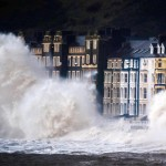 Storms hit the Welsh Coast at Aberystwyth