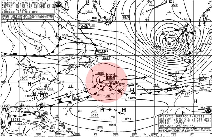 Il ciclone Stephanie si sposta verso la Spagna