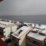 Neve sul mare, Nizza di Sicilia (ME) - Foto di Salvo Mangano
