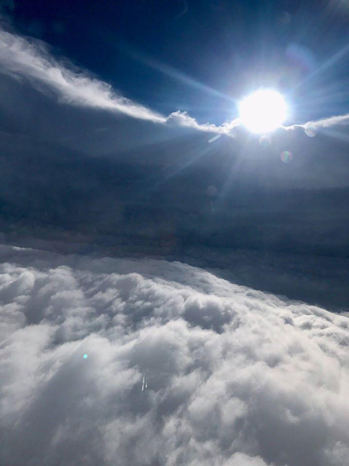 L'occhio dell'uragano Irma visto dall'aereo del NOAA