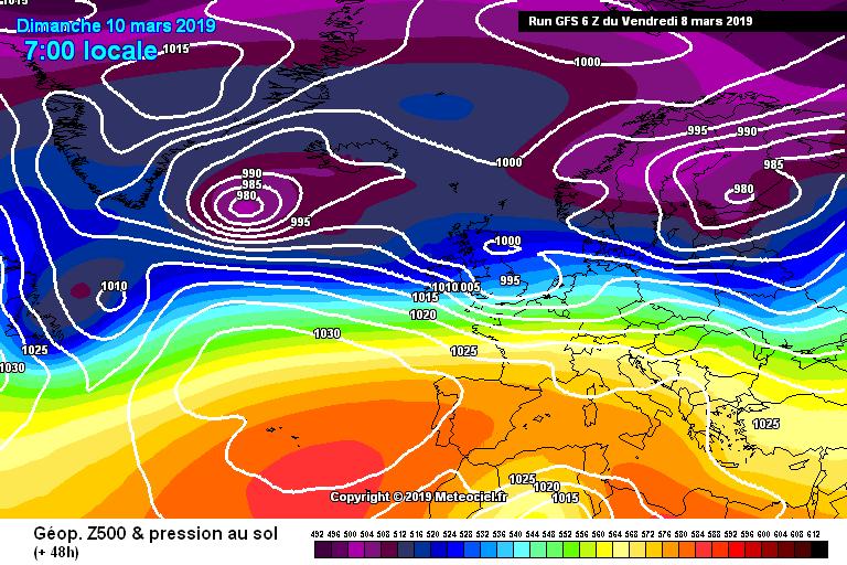 Sinottica per il weekend: flusso zonale e alta pressione sull'Europa meridionale