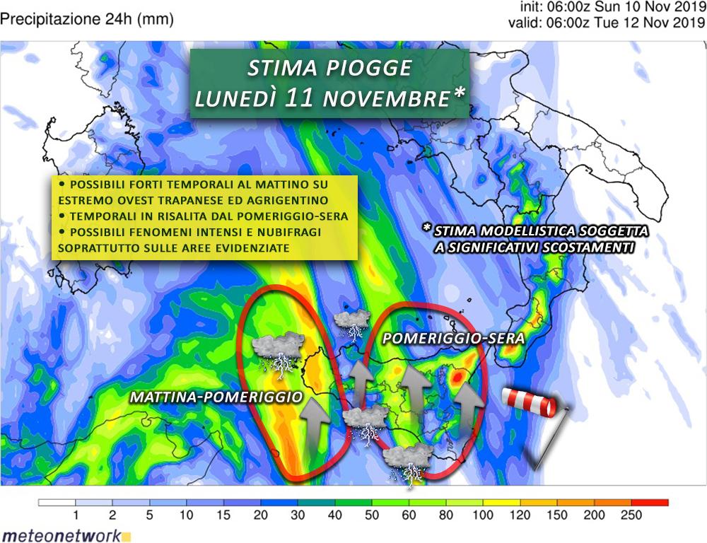 piogge 11 novembre